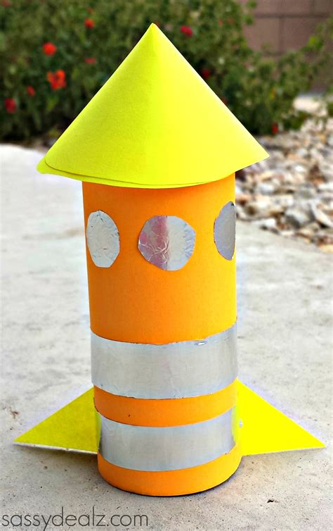 Toilet Paper Roll Crafts - rocket toilet paper roll craft for crafty morning