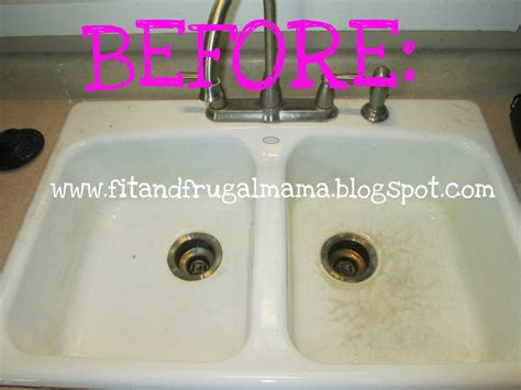 how to clean white porcelain kitchen sink fit and frugal get rid of stains on a porcelain sink