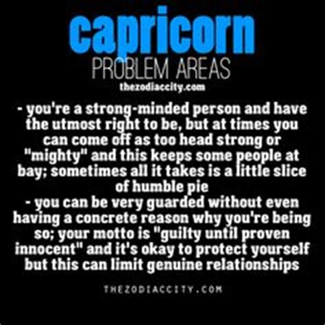 zodiac capricorn problem areas