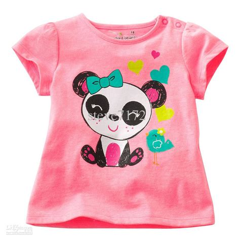 T Shirt Panda Honeyworks Tuquoise And Pink Baby Color 2017 newest t shirts baby shirts panda tank tops sale cotton blouses jumpers