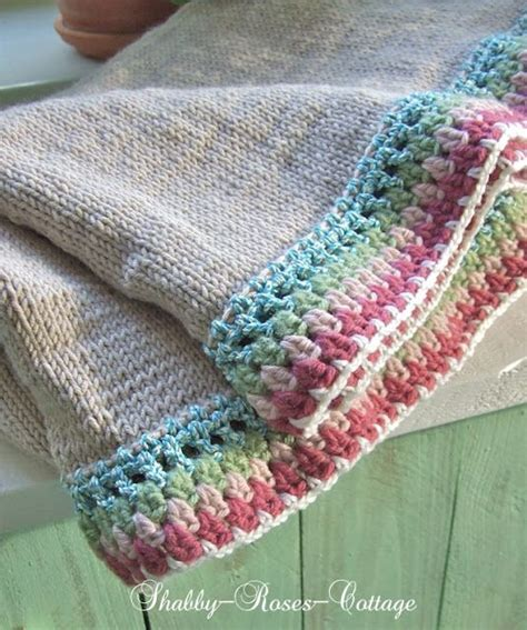 shabby roses cottage knit crochet a new blanket