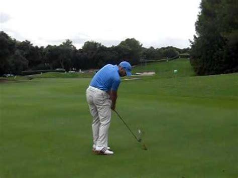 Sergio Garcia Golf Swing Down The Line 17th Hole