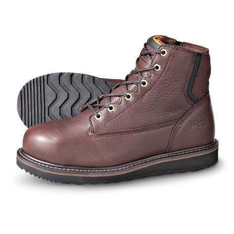 s timberland pro 174 flex back wedge boots brown