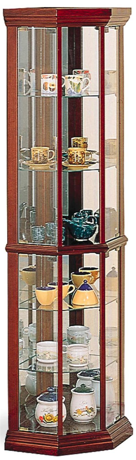 cherry wood curio coaster curio cabinets 3393 solid wood cherry glass corner