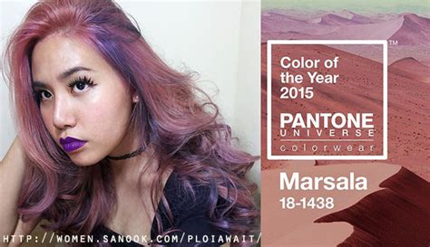Hair Color Of The Year 2015 | marsala hair color of the year 2015 by tob1 hair station