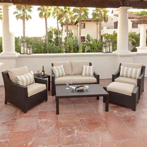 shop rst brands deco 6 wicker frame patio