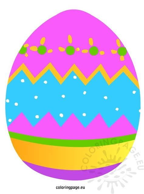 colored easter eggs colored easter egg coloring page