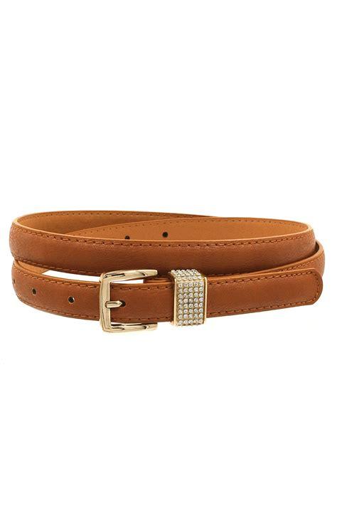 Faux Leather Buckle Belt rhinestone buckle faux leather belt belts