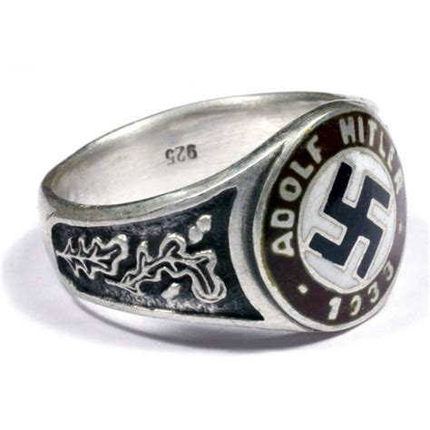 wwii german silver political and civil rings for sale