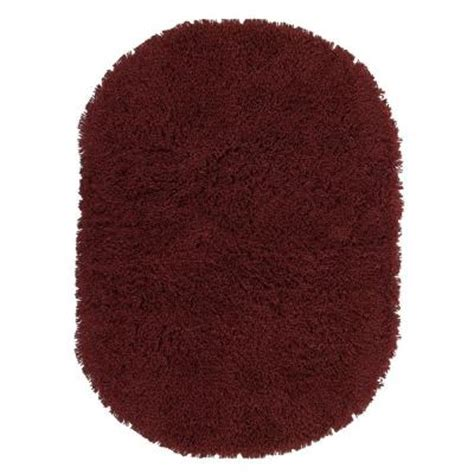 oval shag rug home decorators collection ultimate shag burgundy 5 ft x 7 ft oval area rug 2987890150 the