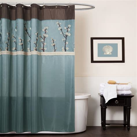 light blue and brown curtains light blue and brown shower curtain