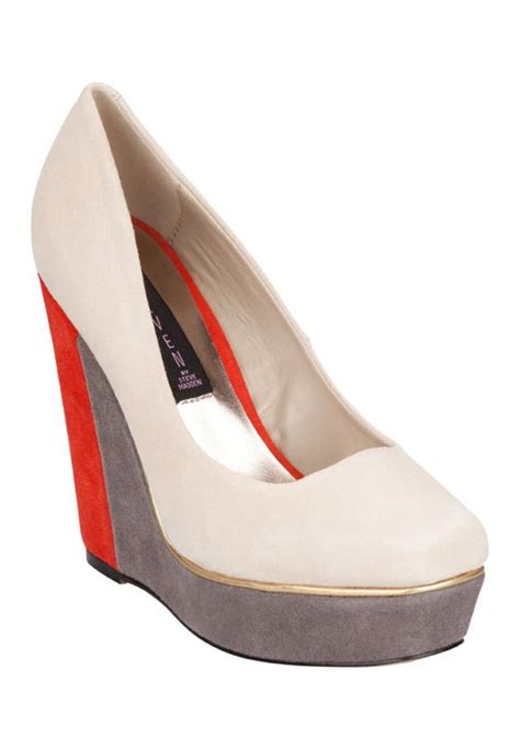 chagne colored wedges steve madden tri colored cammy wedges fooyoh entertainment