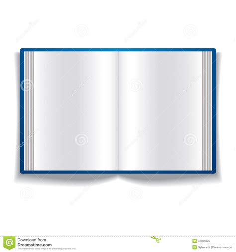 picture of an open book with blank pages open book with blank pages stock vector image 42985975