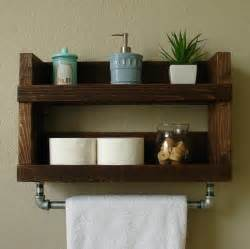 wooden bathroom shelf wood towel bars for bathrooms foter