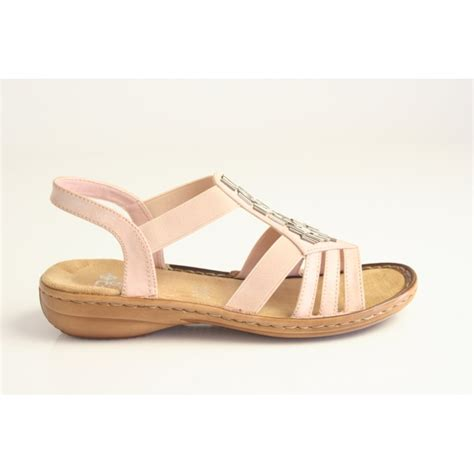 pink sandals rieker rieker pink sandal with metallic bead trim and