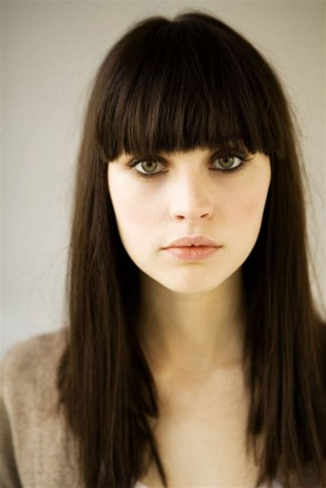 brunette hairstyles with fringe someone please show me this picture when i inevitably