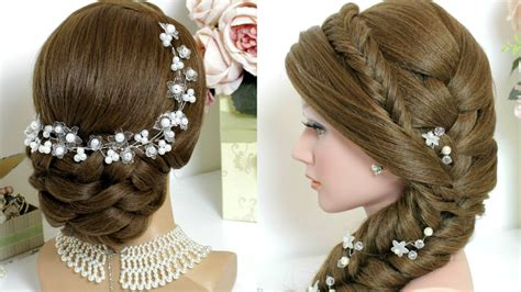 hairstyles to the side youtube 2 hairstyles for long hair bridal updo mermaid side