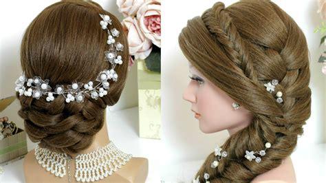 Bridal Hairstyles Side Braid by 2 Hairstyles For Hair Tutorial Bridal Updo Mermaid