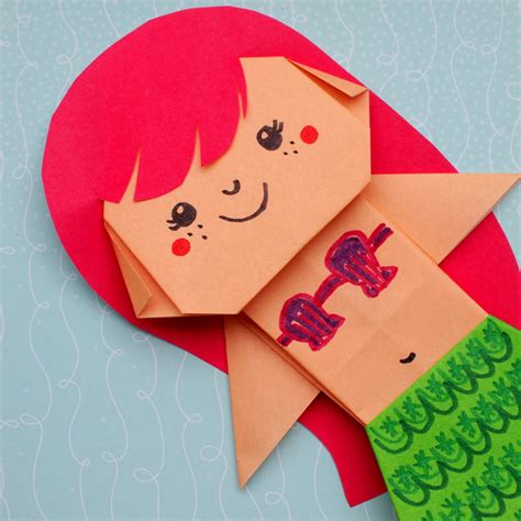 Origami Mermaid - uber origami mermaid pink stripey socks