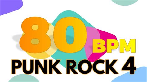 80 bpm shuffle beat drum track 80 bpm punk rock 4 4 4 drum track metronome youtube