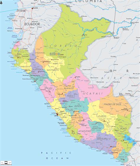 map of peru map of peru travelsmaps