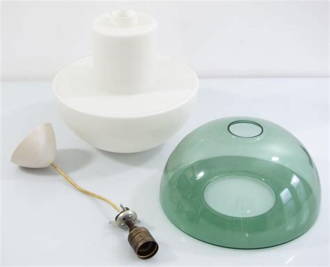 Tapio Wirkkala green coloured glass sixties vintage pendant