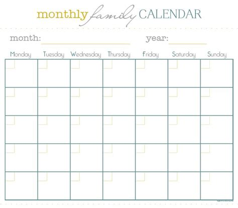 monthly family calendar sm note books weekly meal