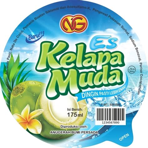 desain gerobak es kelapa muda sribu professional and affordable label design company