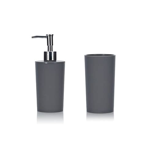 George Home Accessories Soft Touch Charcoal Bathroom Asda Bathroom Accessories