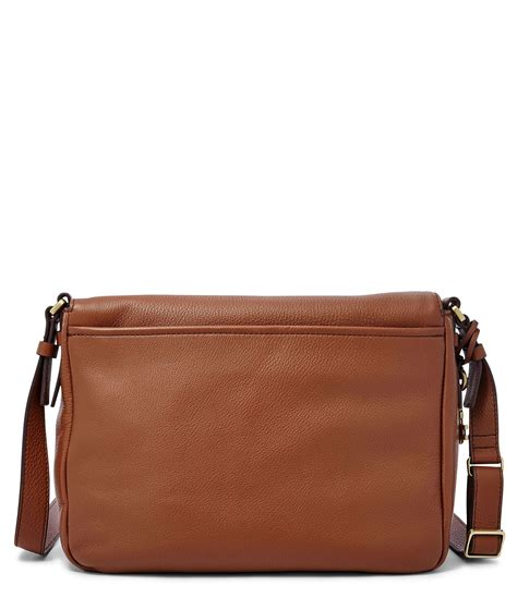 Tas Fossil Original Fossil Peyton Large Brown Leather Nwt Lyst Fossil Peyton Flap Large Cross Bag In Brown