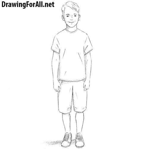 how to draw boy how to draw a boy drawingforall net