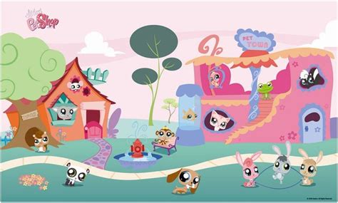 littlest pet shop wall stickers peel amp stick collection decal fathead for