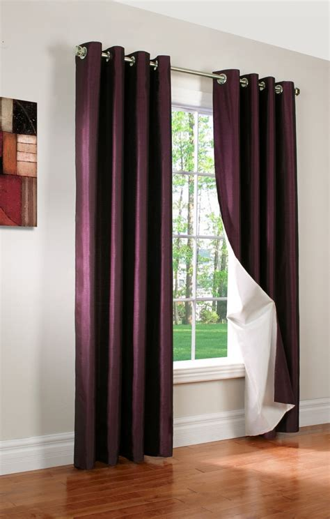 lilac blackout eyelet curtains miller faux silk insulated grommet panel thermalogic