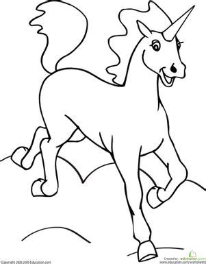 Color the Unicorn   Preschool coloring pages, Coloring