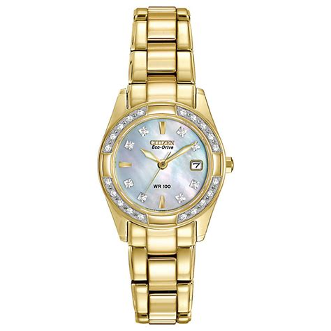 citizen eco drive gold plated bracelet