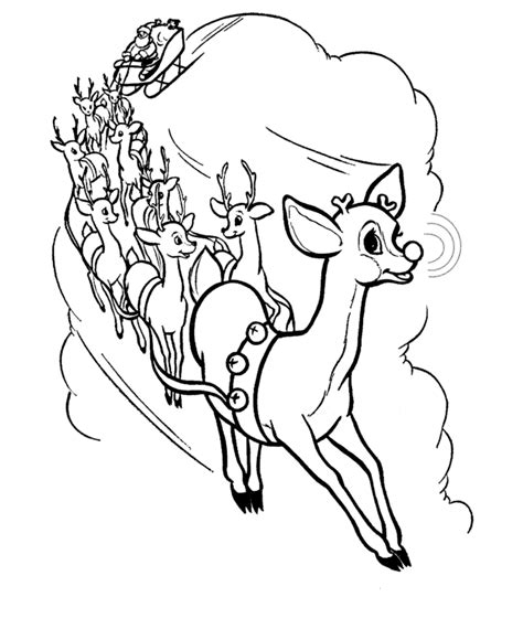 santa and reindeer coloring pages printable search