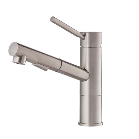 kitchen faucets stainless steel pull out kraus geo axis single handle pull out sprayer kitchen