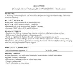 Resume Sles For Pharmacy Technician by Sle Pharmacy Technician Resume 8 Free Documents In Pdf Word