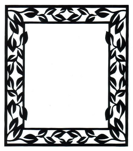 frame design in paper cut paper design rectangle frame silhouette laser die