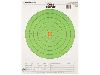 printable targets midway chion score keeper 100 yard rifle 8 bullseye targets
