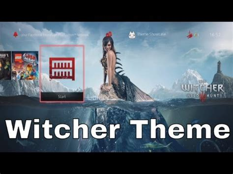 ps4 themes witcher 3 the witcher iii wild hunt ps4 theme showcase youtube