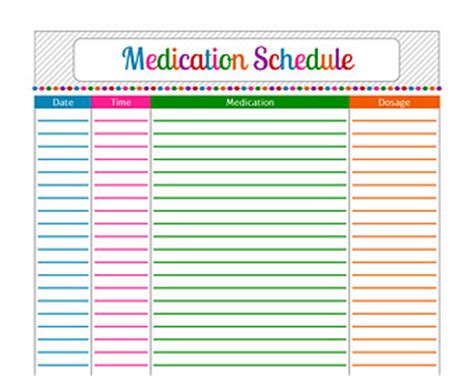 pin daily medication schedule detailed form on