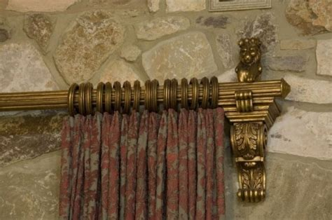 old world drapery hardware old world traditional living rooms and curtain rods on