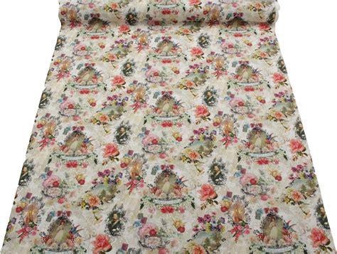 Script Upholstery Fabric by Vintage Shabby Script Colour Digital Print 100