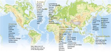 Map Of Boeing Locations Map by Boeing Frontiers Online