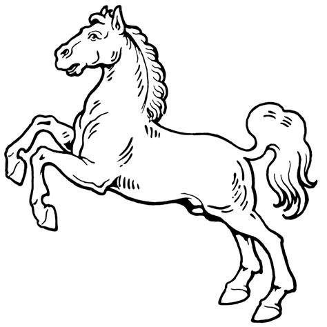 black and white coloring pages of horses white galloping horse clip art clipart panda free