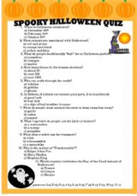 printable free halloween trivia questions and answers english worksheet spooky halloween quiz