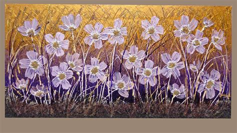 quadri astratti fiori ranuncoli lilla vendita quadri quadri moderni