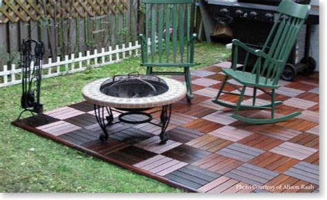 wooden patio deck tiles snap together tiles diypatiodeck