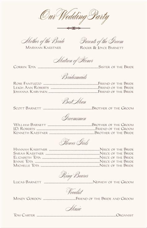 Wedding Program Wording Template by Wedding Programs Wedding Program Wording Program Sles